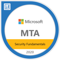 MTA Security Fundamentals certificate badge